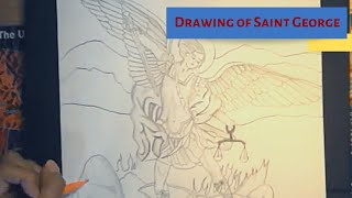 Drawing of Saint Michael