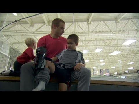 NHL Revealed: Dustin Brown family skate