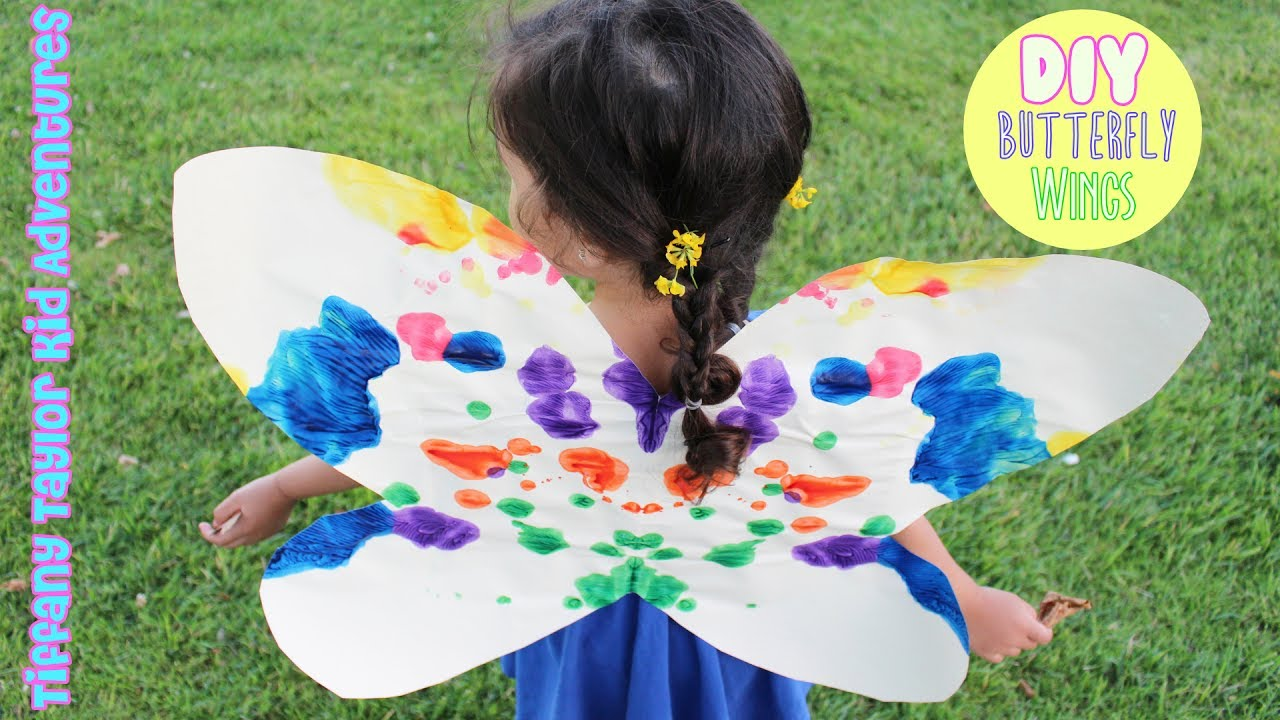DIY How To Make EASY Paper Butterfly Wings For KIDS That ...