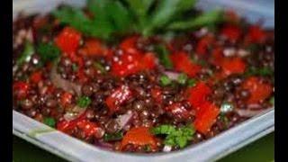 Очень вкусный салат из чечевицы