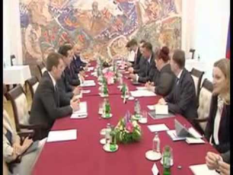 Slovenian President Pahor Meets Macedonian Counterpart