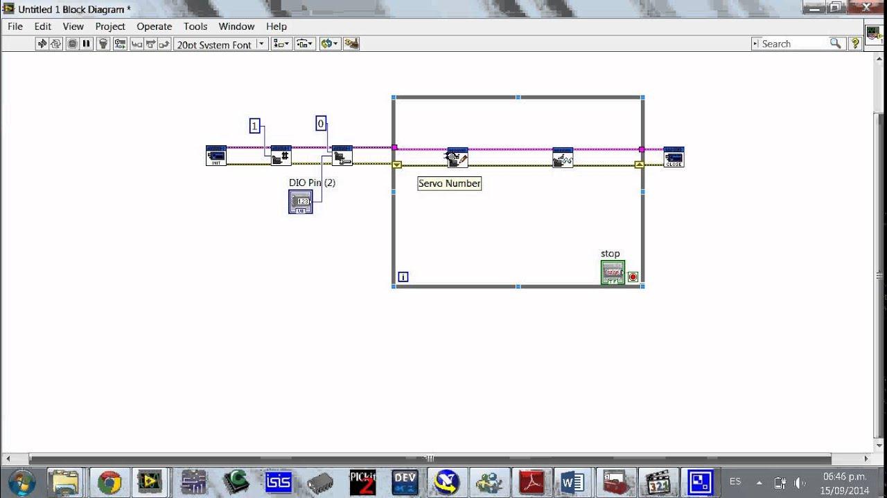 Servo with labview control de motor con y