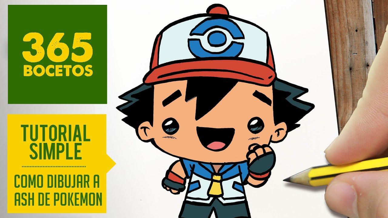 Como Dibujar A Ash De Pokemon Paso A Paso Dibujos Kawaii Faciles