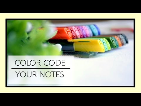 How to Color Code your Notes