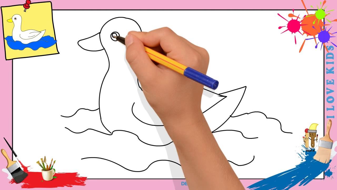 Dessin canard 2 comment dessiner un canard facilement - Comment cuisiner des manchons de canard ...