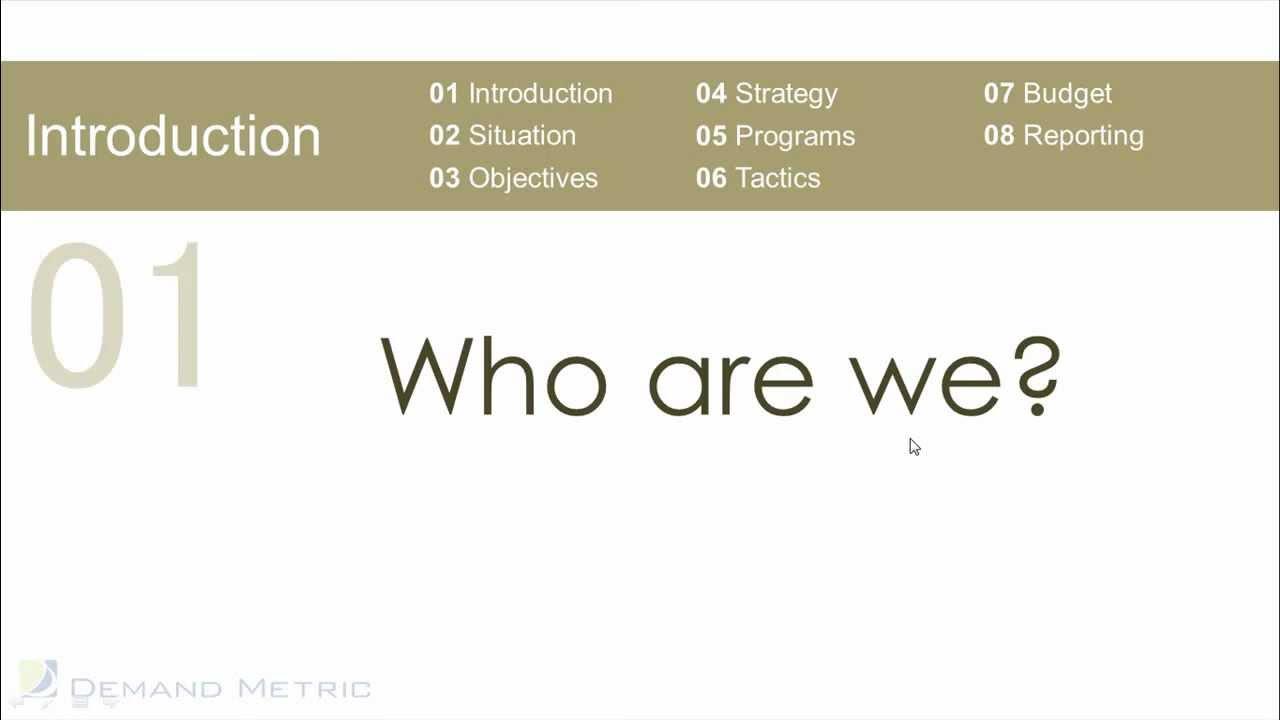 Marketing Plan Presentation Template YouTube