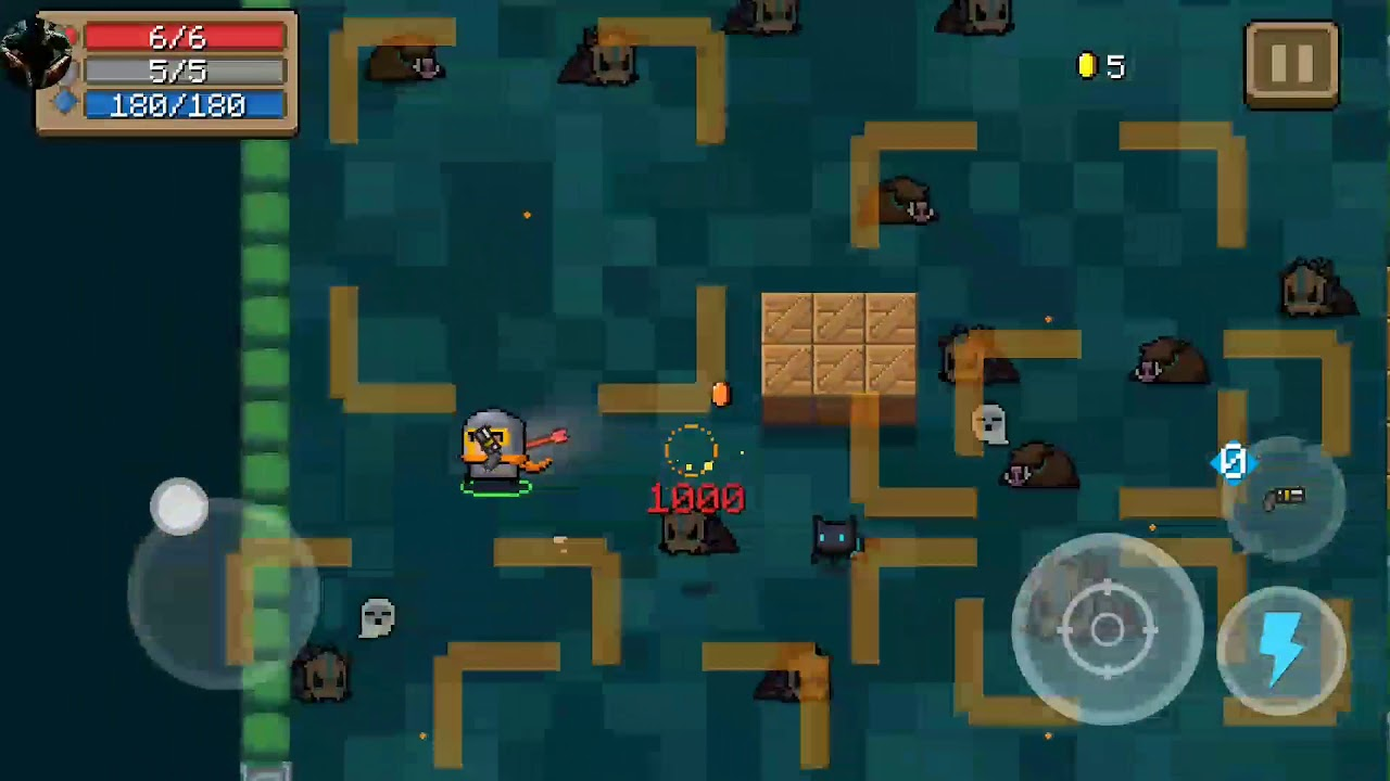 Soul Knight Hack / Mod (Invincible,double Moving speed,Damage+1000,Get Gems  and Money 99999)