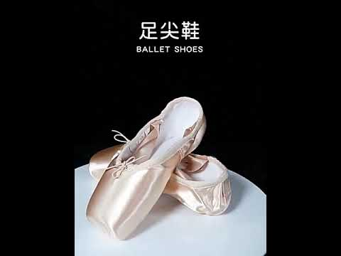 TIEJIAN Professional Ballet Pointe Shoes Canvas Satin Pink Black Red Ballerina Shoes #shorts