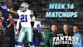 Fantasy Football 2016 - Week 16 Matchups, In-or-Out, Playoff Decisions- Ep. #334