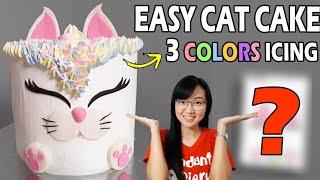 How to Make a Cat Cake  Cute Cat Cake Ideas  Cat Cake  Buttercream Cat Cake  Cat Birthday Cake