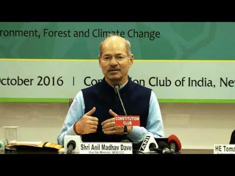 HMoEFCC Shri Anil Madhav Dave addresses National Precop 22 Consultation