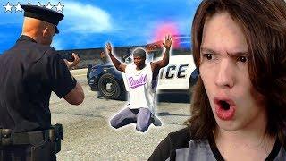 JOGANDO GTA 5 COMO UM POLICIAL!! (Incrível)