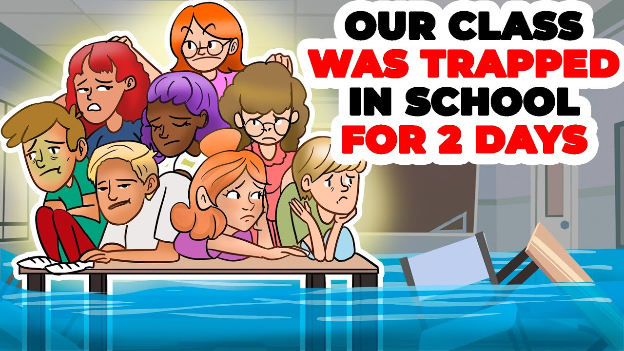 Our Class Was Trapped in School for Two Days | Animated Story about Flood