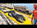 HOMEM ARANHA BATMAN E HOMEM DE FERRO COM CARROS NA SUPER RAMPA! DESAFIO CARROS COM HERÓIS - IR GAMES