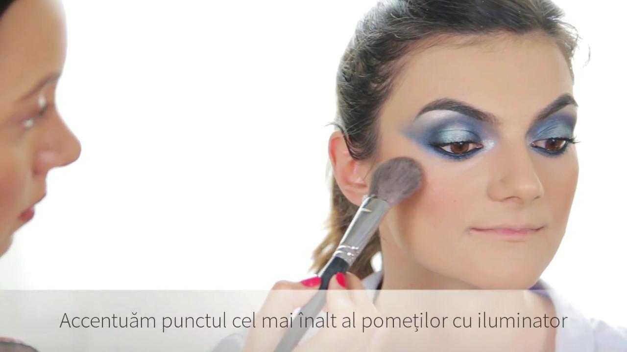 Tutorial Make Up By Alina Serbu Trainer Atelierele Ilbah Youtube