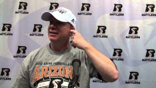 8-10-13, Arizona Rattlers Vs. Spokane Shock, Post Game Press Conference