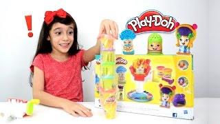 PLAY DOH CORTE MALUCO ★ Massinha de Cabelereiro Super Divertida! ★ Unboxing e Review de brinquedos