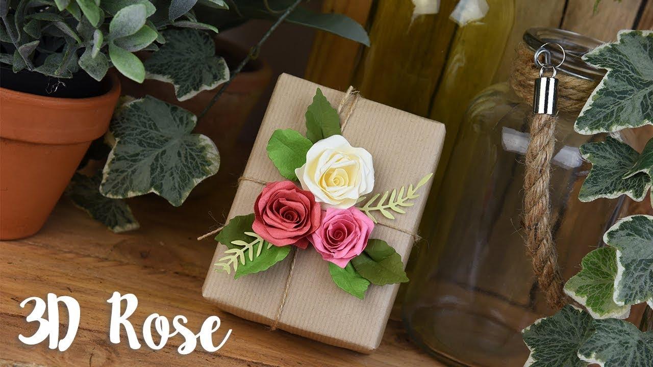Sizzix Thinlits Die Mini Flower Scallop 3D Rose