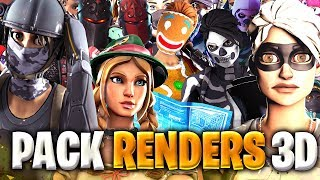 BEST PACK GFX RENDERS 3D FORTNITE ! (PC/IOS/ANDROID)