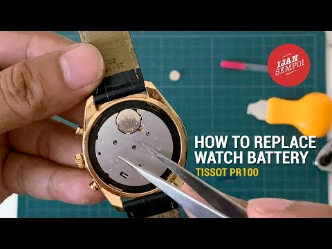 How To Replace Watch Battery (TISSOT PR100)