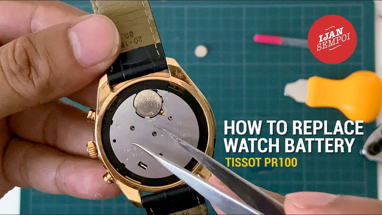 How To Replace Watch Battery (TISSOT PR100) - YouTube
