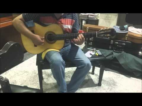 """MY guitar vs  a Romanillos """"Russell Cleveland' collection"""