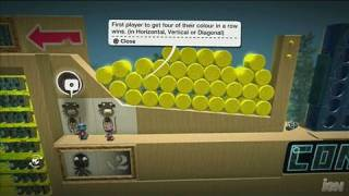 LittleBigPlanet PlayStation 3 Gameplay - Connect 4