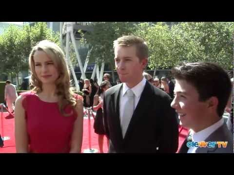 Bridgit Mendler, Jason Dolley & Bradley Steven Perry   2012 Creative Arts Emmys