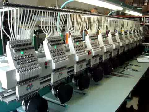 tajima 12 head embroidery machine youtube