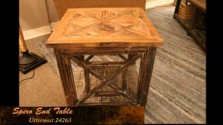 Uttermost Spiro 24263 Reclaimed Wood End Table