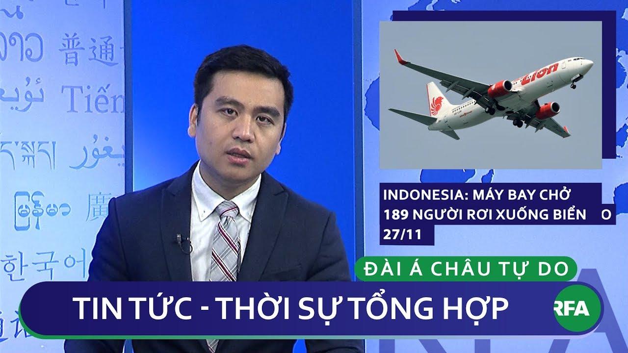 Tin nóng 24h | Máy bay Indonesia chở 189 người rơi xuống biển