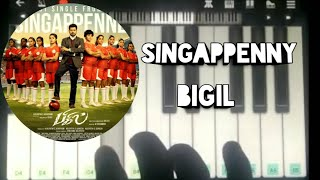 Singappenny song | piano tutorial | bigil | #vijay | singappenney song | Abi Music | #bigil