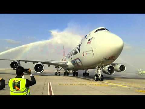 Cargolux airlines 45th anniversary in dwc airport.