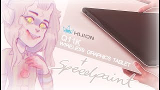 HUION Inspiroy Q11K wireless graphics tablet 【REVIEW & SPEEDPAINT】