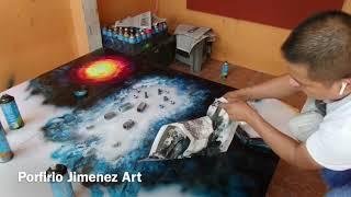 Vẽ Goku blue bằng sơn màu tuyệt đẹp - Draw a songoku blue with paint color