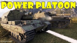 World of Tanks - POWER PLATOON! [2 SPG's, 10 KILLS, 10.000 DMG]