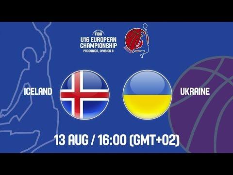 LIVE - Iceland v Ukraine - FIBA U16 European Championship Division B 2019