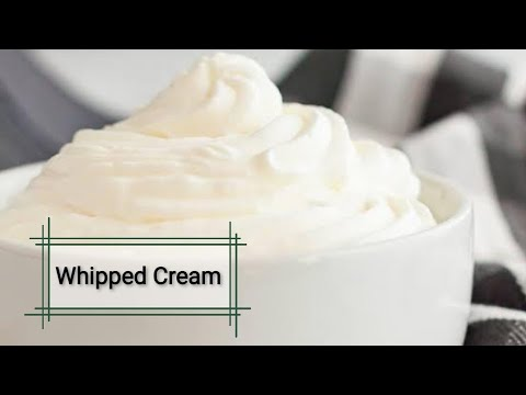 whipped cream without Electric Beater II How to make ...