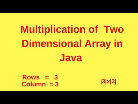 how-to-multiply-two-dimensional-array-in-java