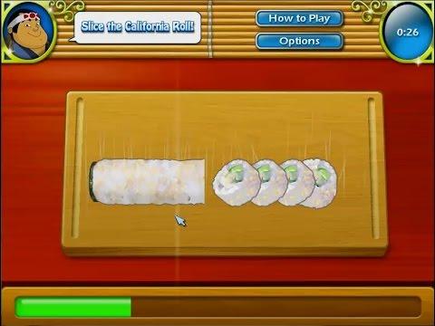 เกมทำอาหารญี่ปุ่น ข้าวห่อสาหร่าย california roll maki カリフォルニアロール