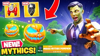 *NEW* HALLOWEEN MYTHICS in Fortnite! (Secret Skins, Weapons + MORE)