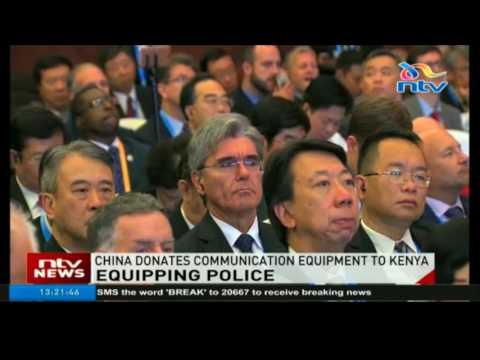 China donates communication equipment to Kenya