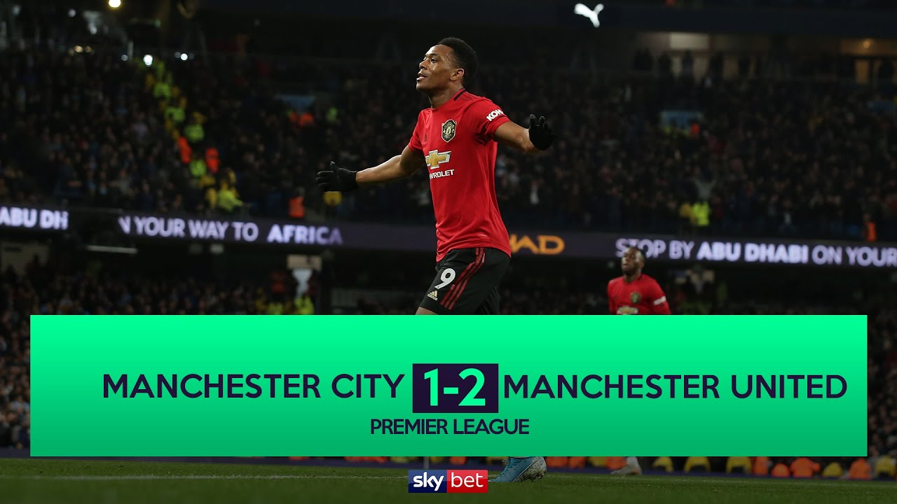 Manchester City 1-2 Manchester United: Premier League  as it ...