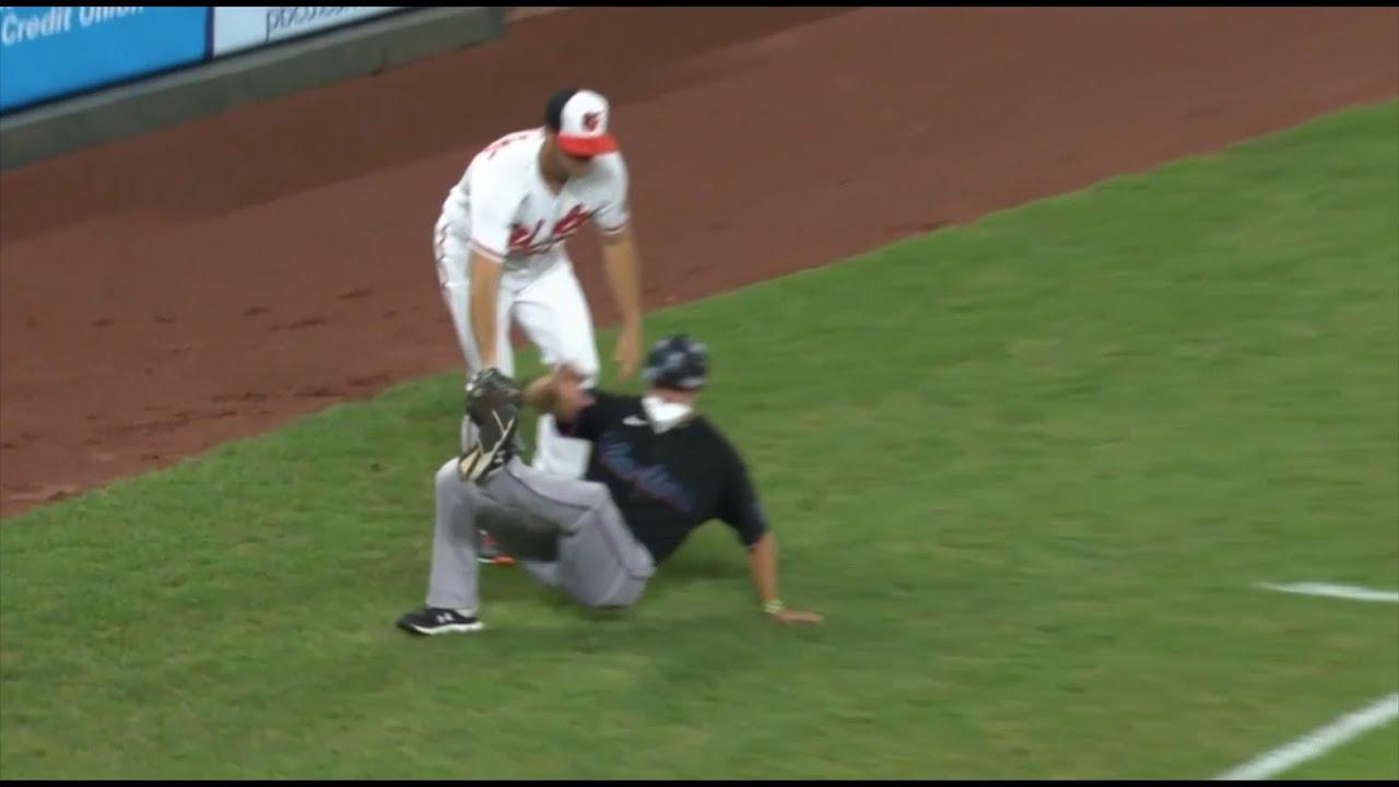 Wade LeBlanc runs over third base coach, throws pick offs and balks, a breakdown