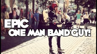 Epic One Man Band Guy! (Street Performer in Sweden)