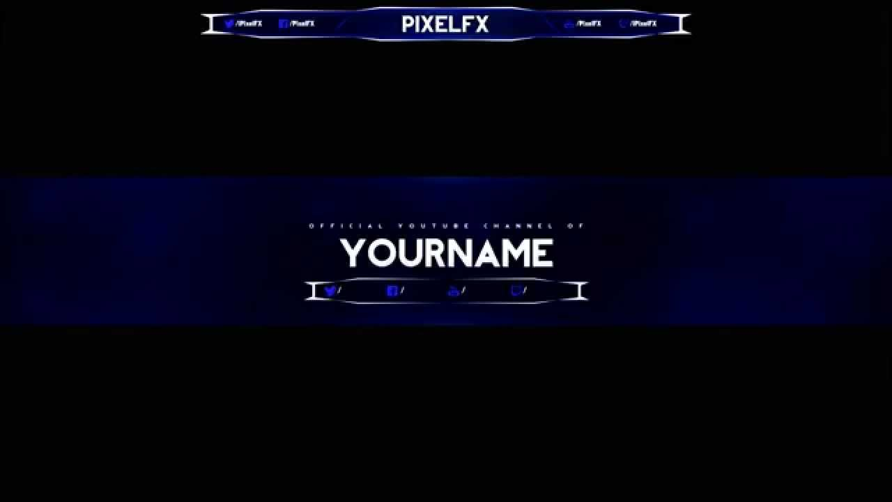 YouTube Channel Art Template By PixelFX