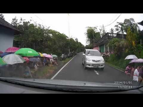 UBUD→KINTAMANI Car Mounted Camera BALI ISLAND車載カメラ ウブド→キンタマーニ