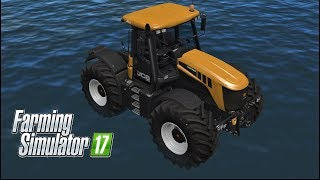 Farming Simulator 17   SWIMMING TRACTOR !!! IN GOLDCREST VALLEY