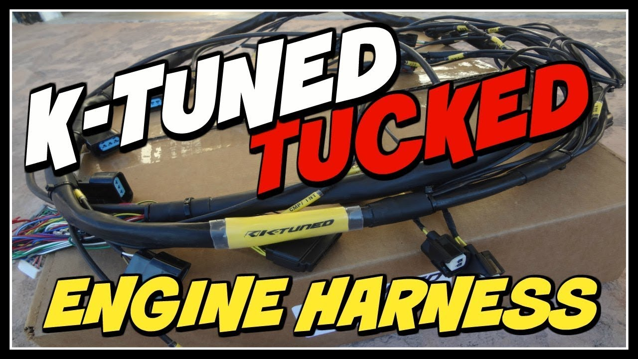 K-TUNED TUCKED K-SERIES ENGINE HARNESS SWAP UNBOXING!! on
