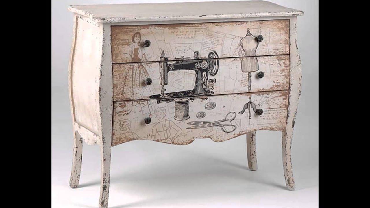 Decora con la colecci n acabado charme youtube - Decorar muebles con papel ...